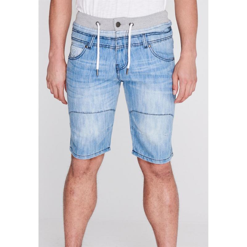 No Fear Double Waist Shorts Mens Light Wash