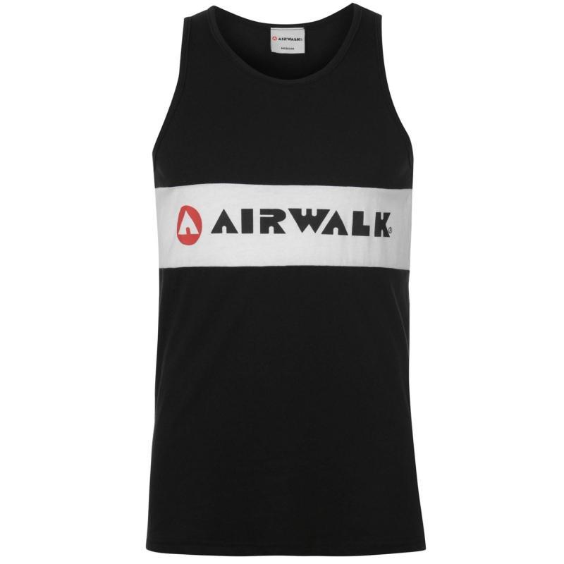 Tílko Airwalk Stripe Vest Mens Black