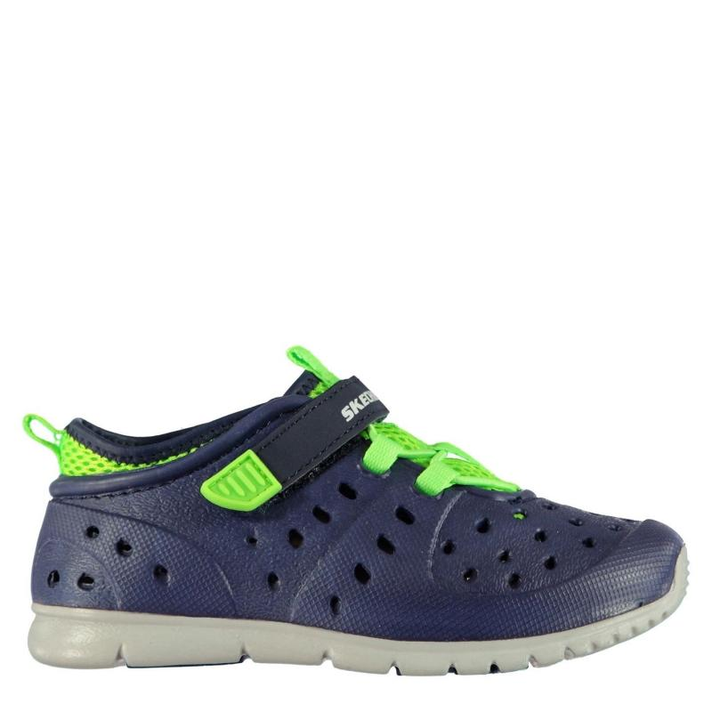 Boty Skechers Hydrozooms Infants Splasher Shoes Navy Lime