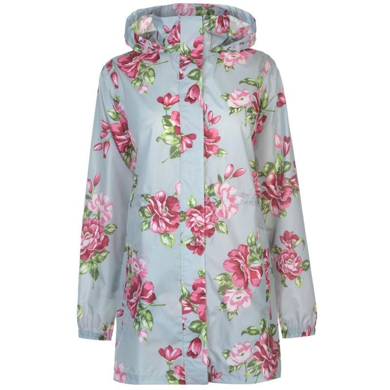 Gelert Packaway Parka Ladies Grey Floral