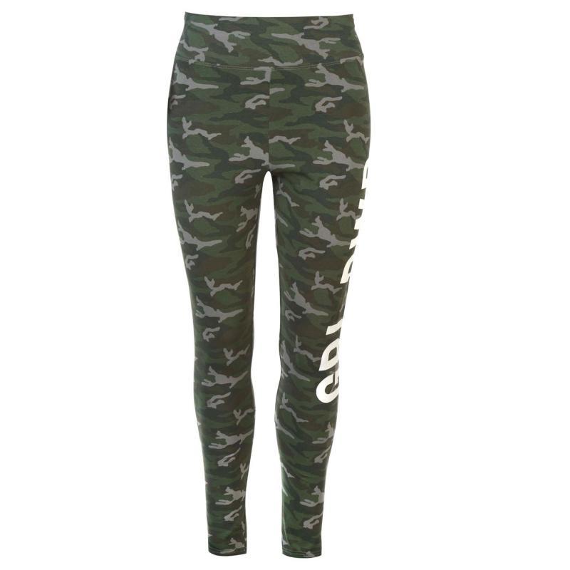 Golddigga All Over Print Leggings Ladies Green Camo GRL