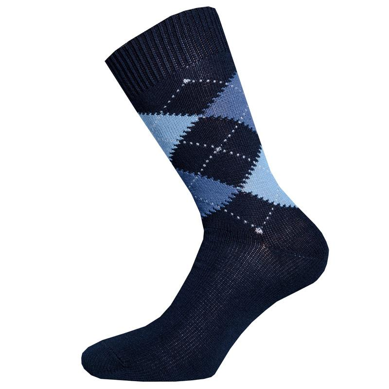 Ponožky Pretty Green Mens Argyle Socks Black