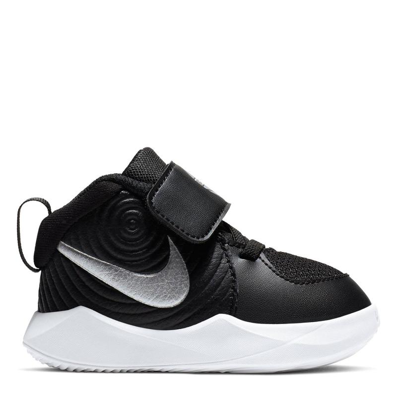 Boty Nike Team Hustle D 9 Baby/Toddler Shoe BLACK/METALLIC SILVER-WOLF GRE