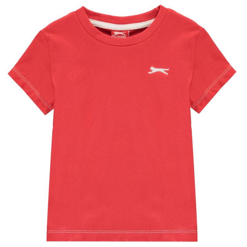 Tričko Slazenger Plain T Shirt Infant Boys Red