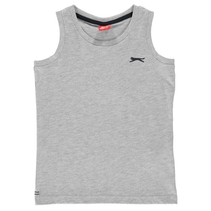 Tílko Slazenger Sleeveless T Shirt Junior Boys Grey Marl