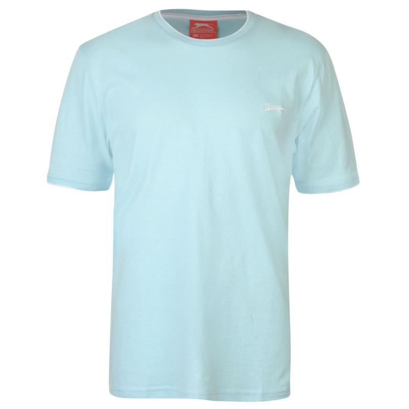Tričko Slazenger Tipped T Shirt Mens Light Blue