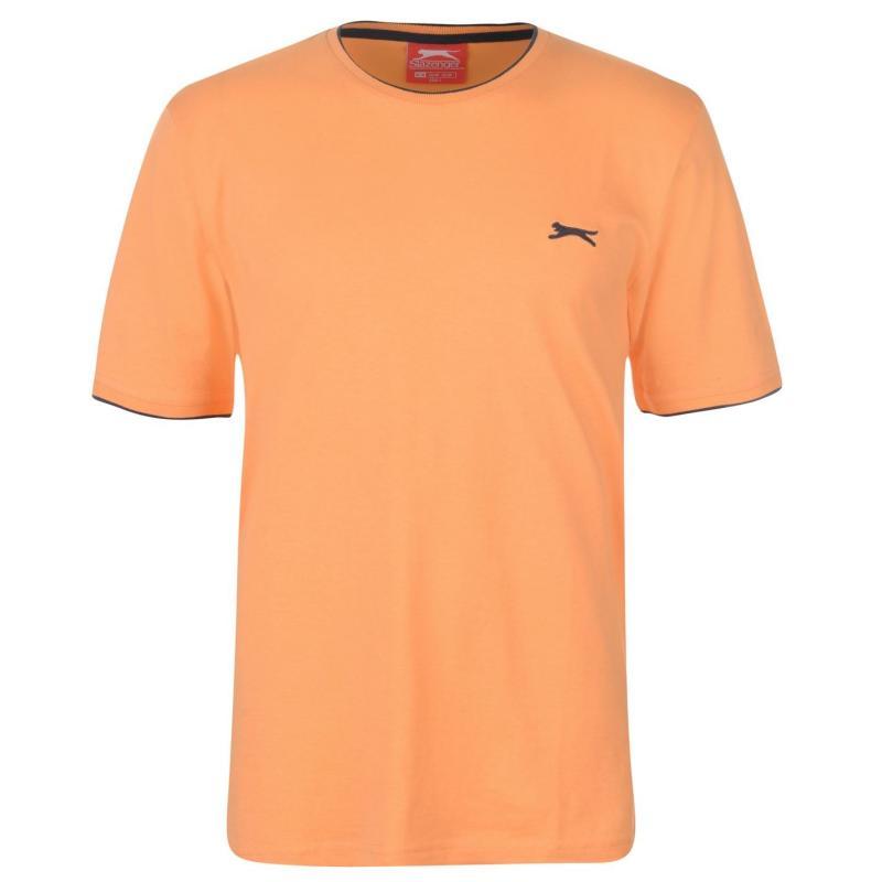 Tričko Slazenger Tipped T Shirt Mens Orange