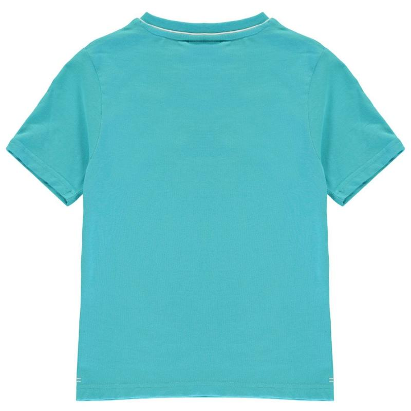 Tričko Slazenger V Neck T Shirt Junior Boys Bright Blue