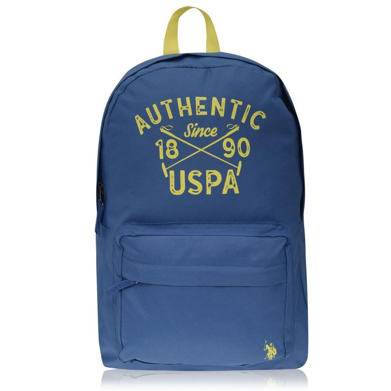 US Polo Assn Colour Block Backpack Monaco Blue