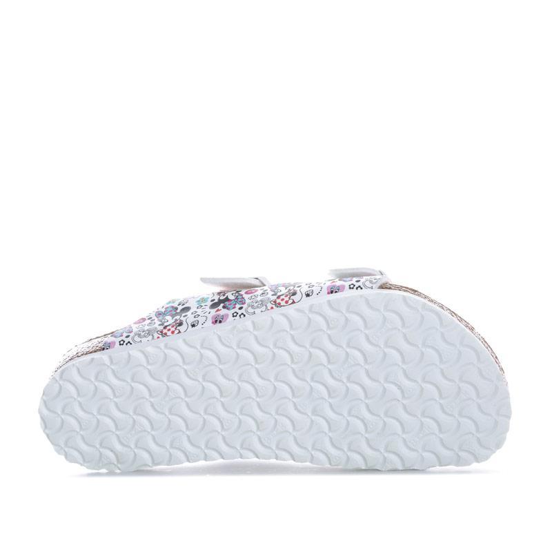 Birkenstock Children Girls Arizona Lovely Minnie Sandals White