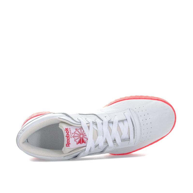 Reebok Classics Mens Workout Clean Ripple Ice Trainers White red
