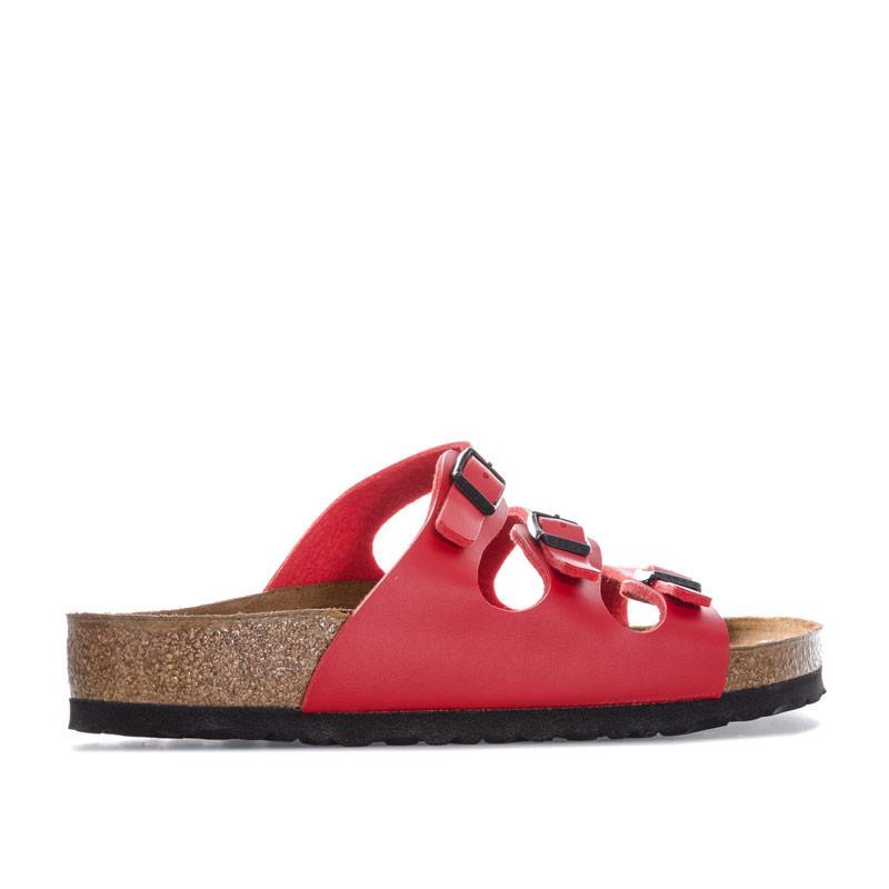 Boty Birkenstock Womens Florida Sandals Regular Width Red