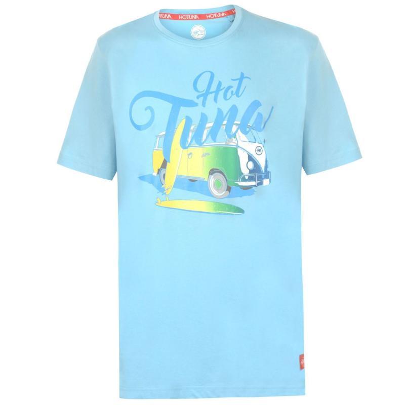 Tričko Hot Tuna Crew T Shirt Mens Cadet Camper