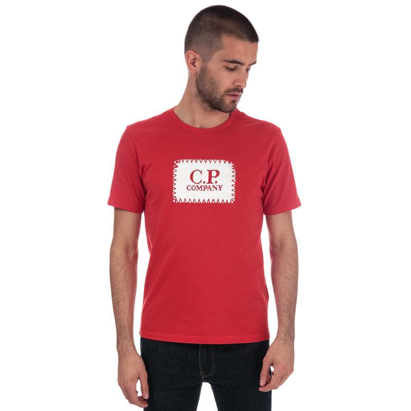 Tričko C.P. Company Mens Block Logo Tee Red