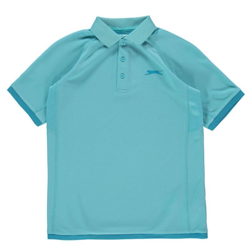 Slazenger Court Polo Shirt Junior Boys Vivid Blue