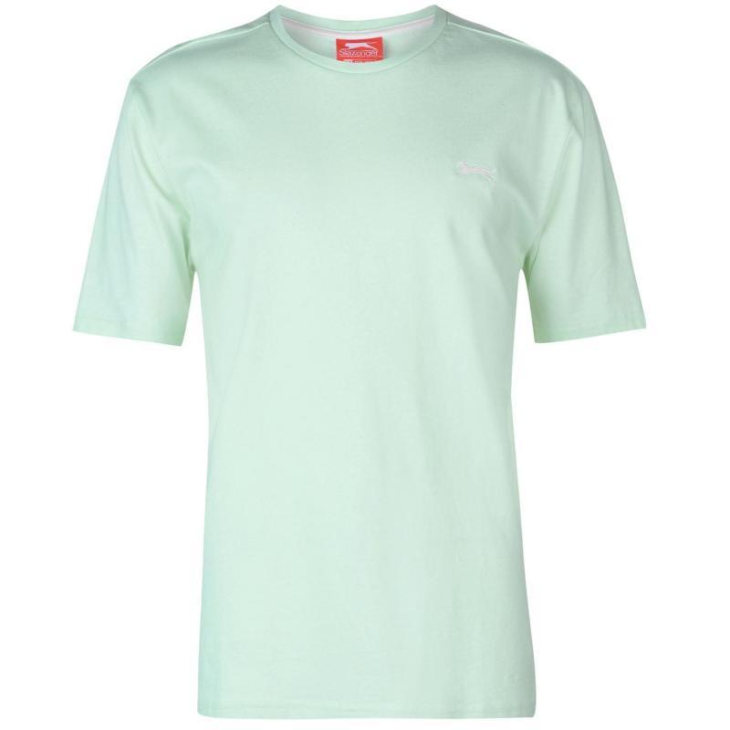 Tričko Slazenger Plain T Shirt Mens Aqua