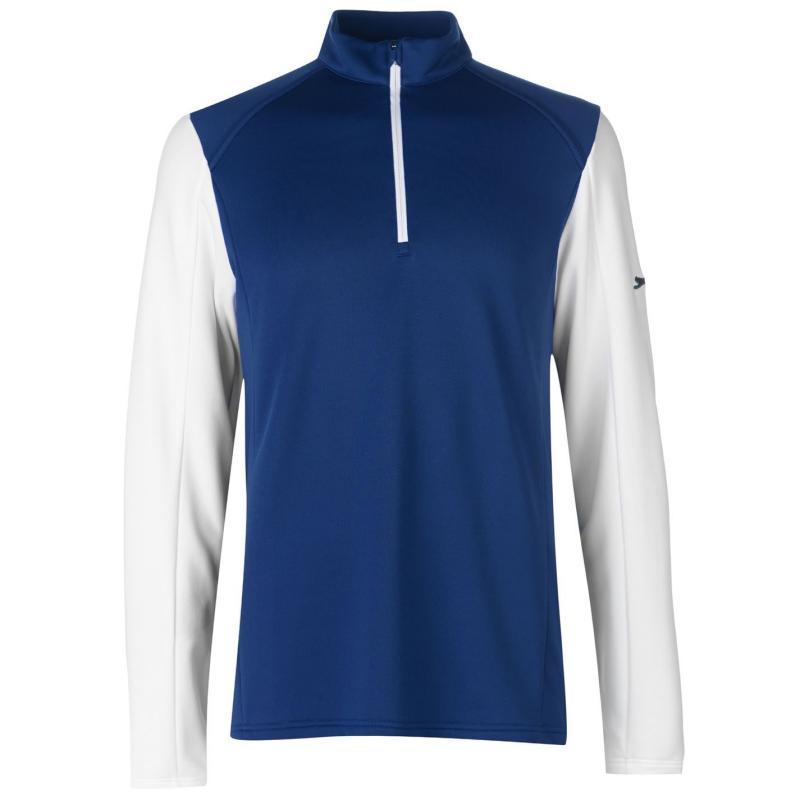 Slazenger Zip Pullover Mens Navy/White
