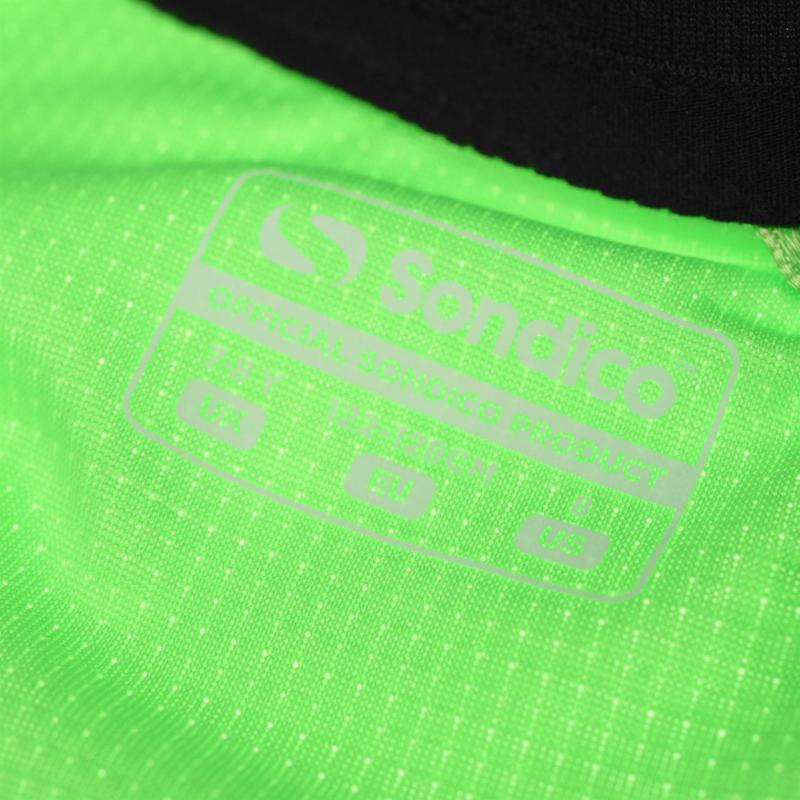Tričko Sondico Fundamental Polo T Shirt Junior Boys FluoGreen/Black