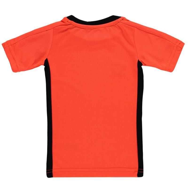 Tričko Sondico T Shirt Infants Black/FluOrange