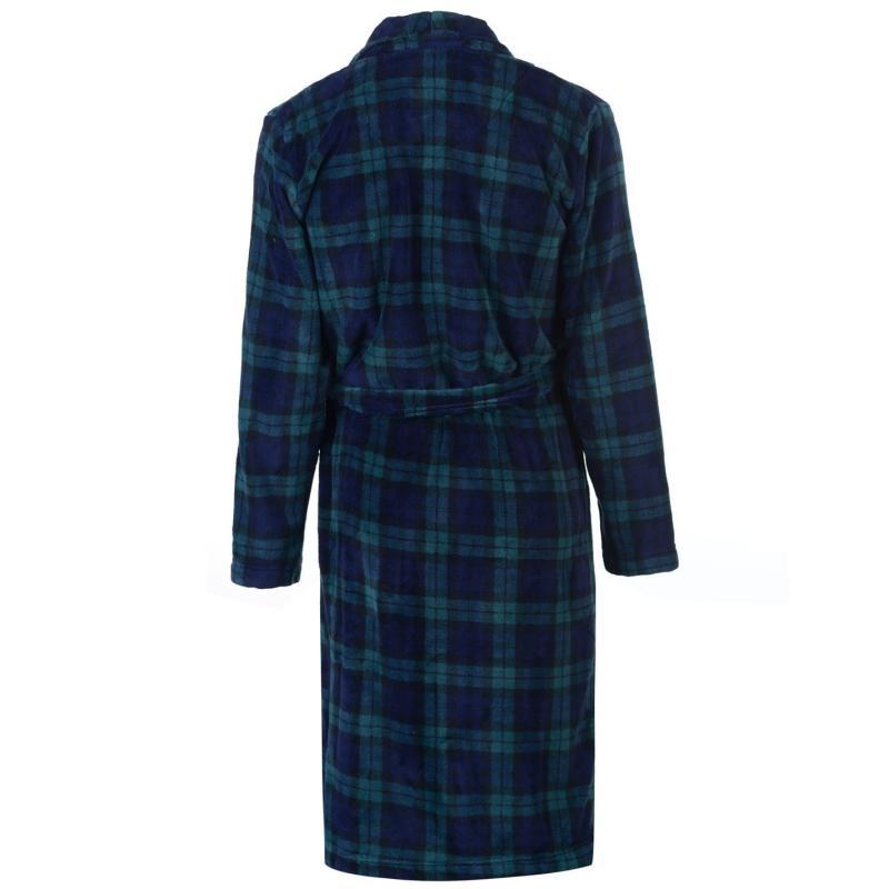 Pyžamo Howick Blackwatch Check Fleece Dressing Gown