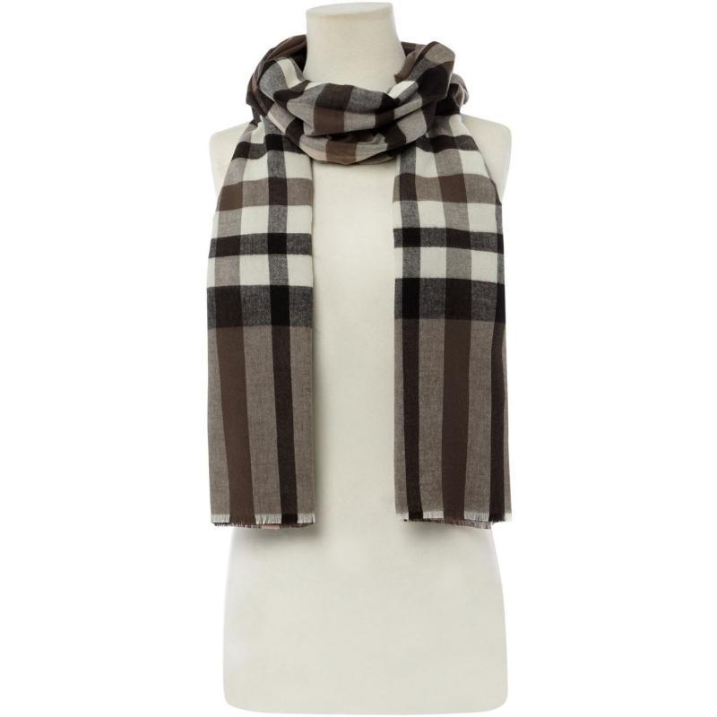 Linea Check cashmink scarf