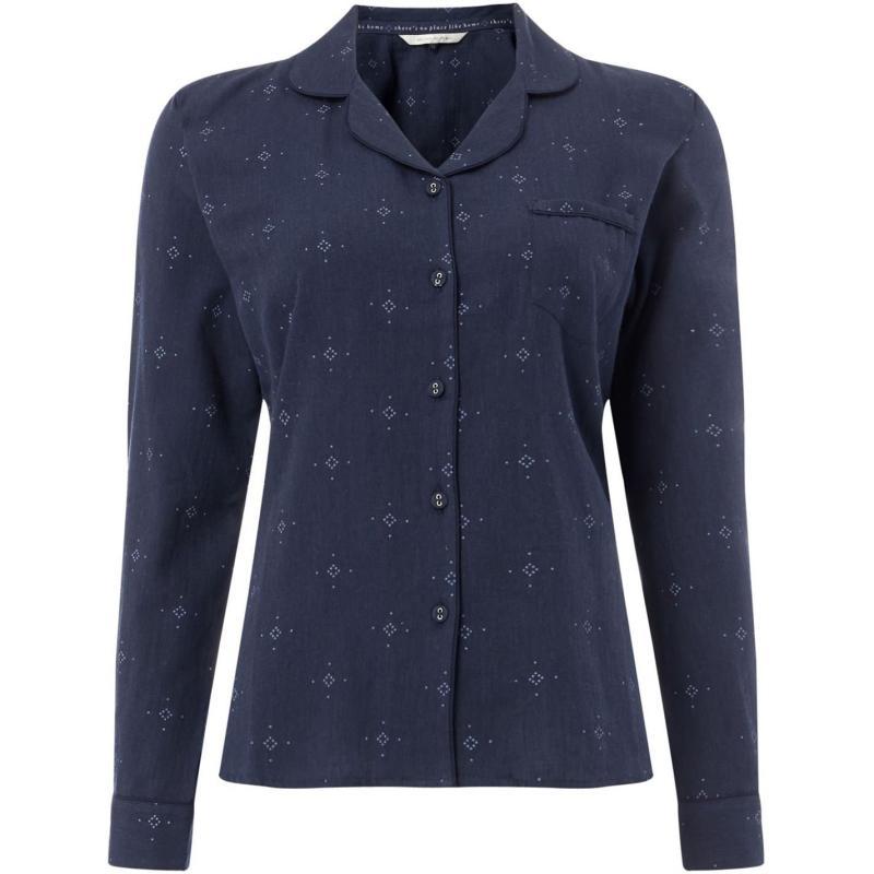 Pyžama Maison De Nimes Woven collar revere PJ top