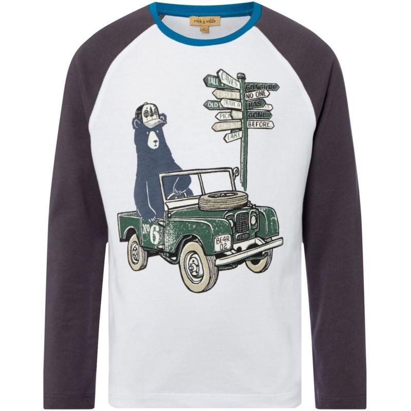Tričko Rock and Wilde Bear Long Sleeve T Shirt