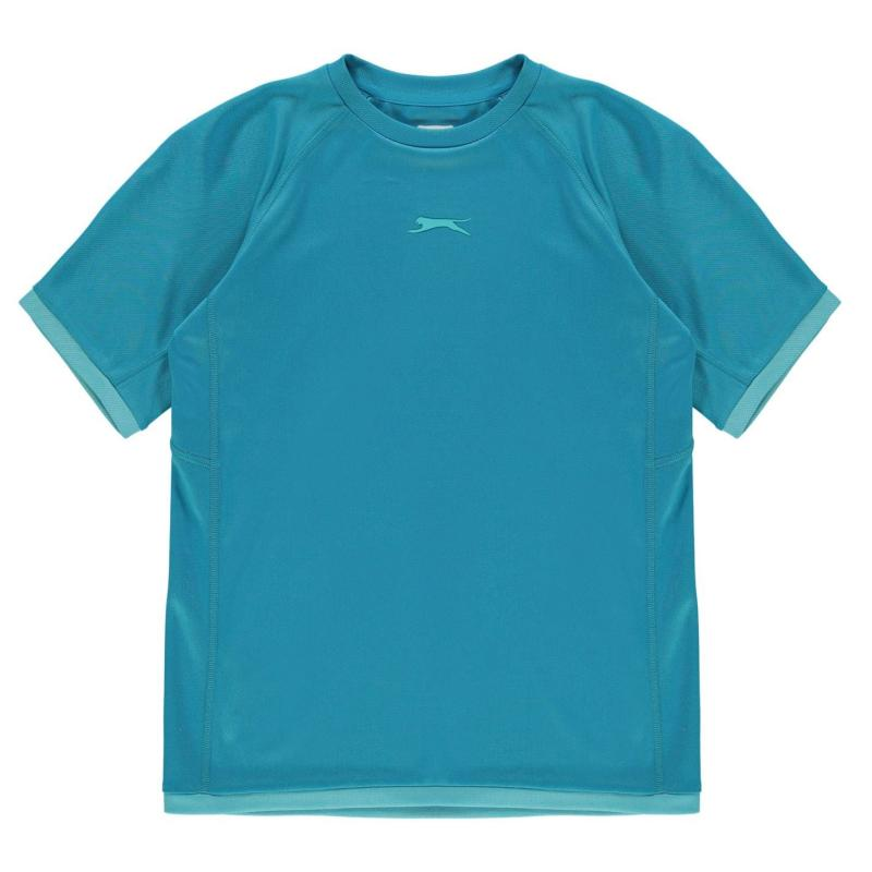 Slazenger Court T Shirt Junior Boys Blue