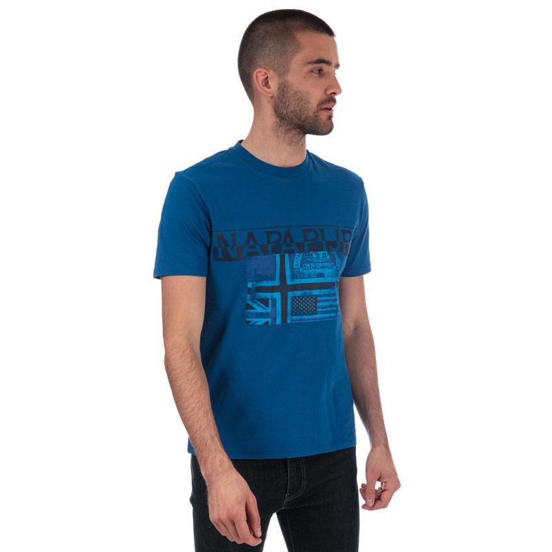 Tričko Napapijri Mens Sawy T-Shirt Khaki