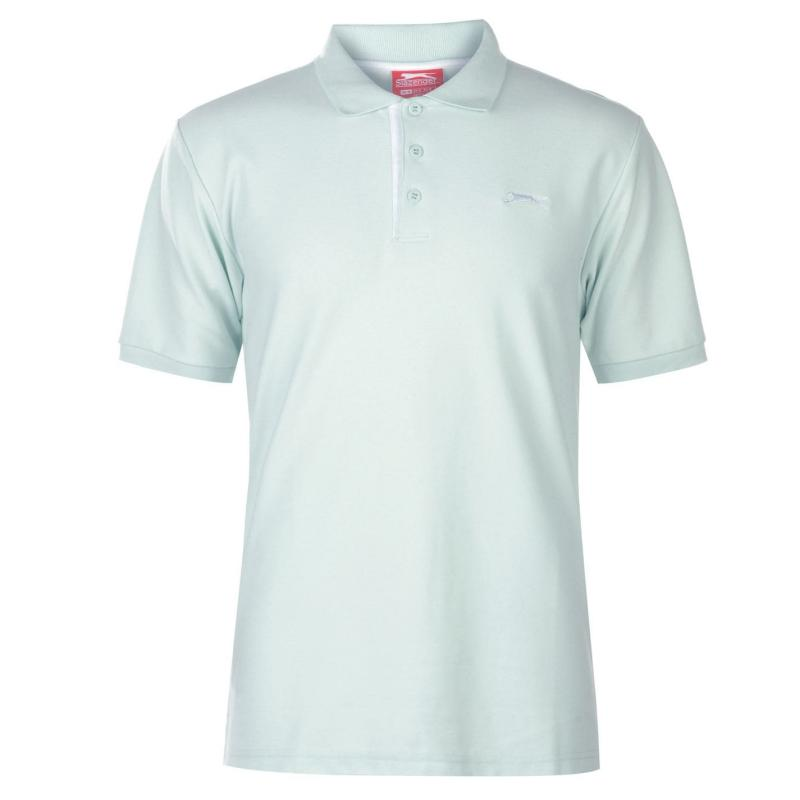 Slazenger Plain Polo Shirt Mens Aqua