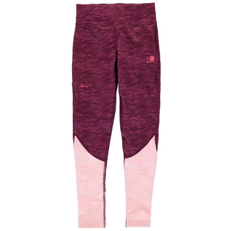 Karrimor X Lite Tights Junior Girls Pink AOP