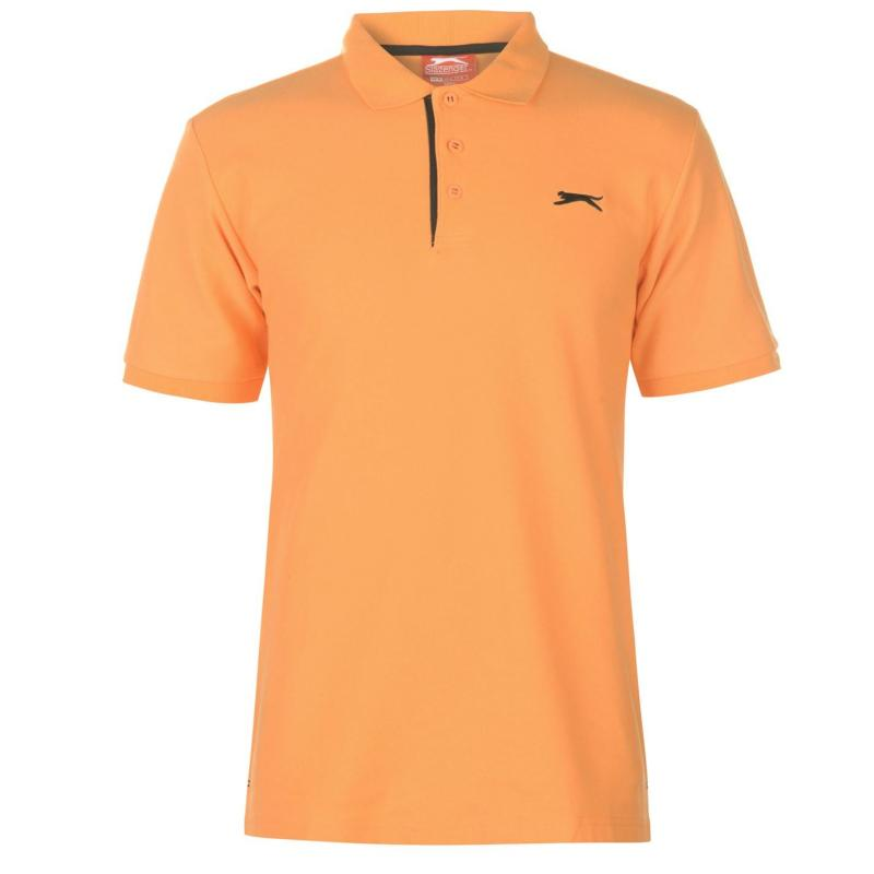 Slazenger Plain Polo Shirt Mens Orange