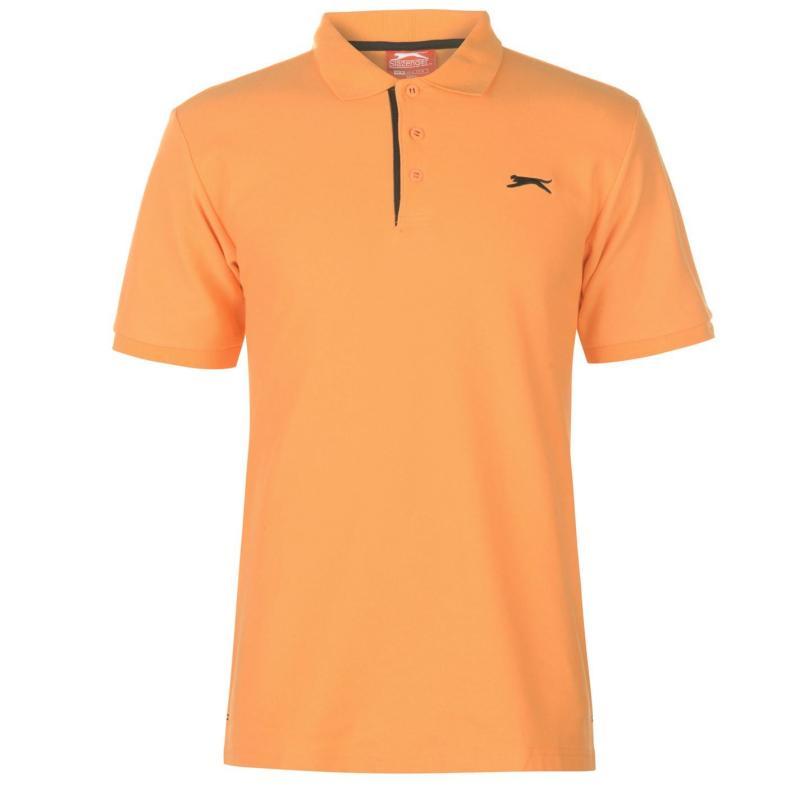 Slazenger Plain Polo Shirt Mens Orange