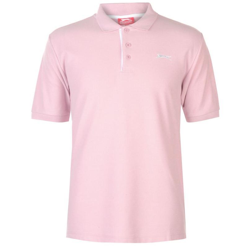 Slazenger Plain Polo Shirt Mens Light Pink