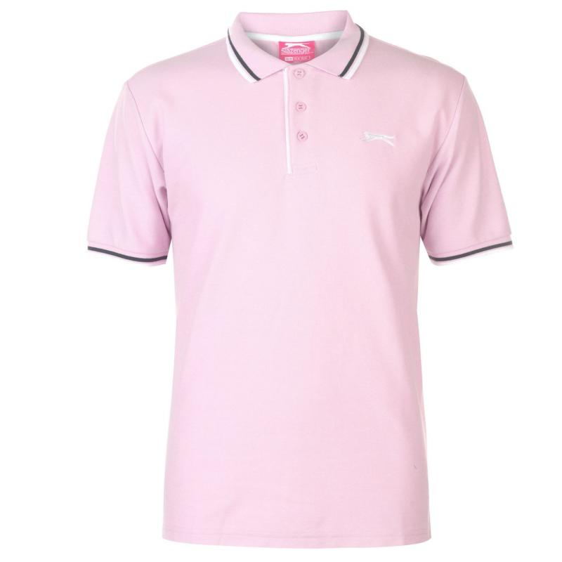 Slazenger Tipped Polo Shirt Mens Light Pink