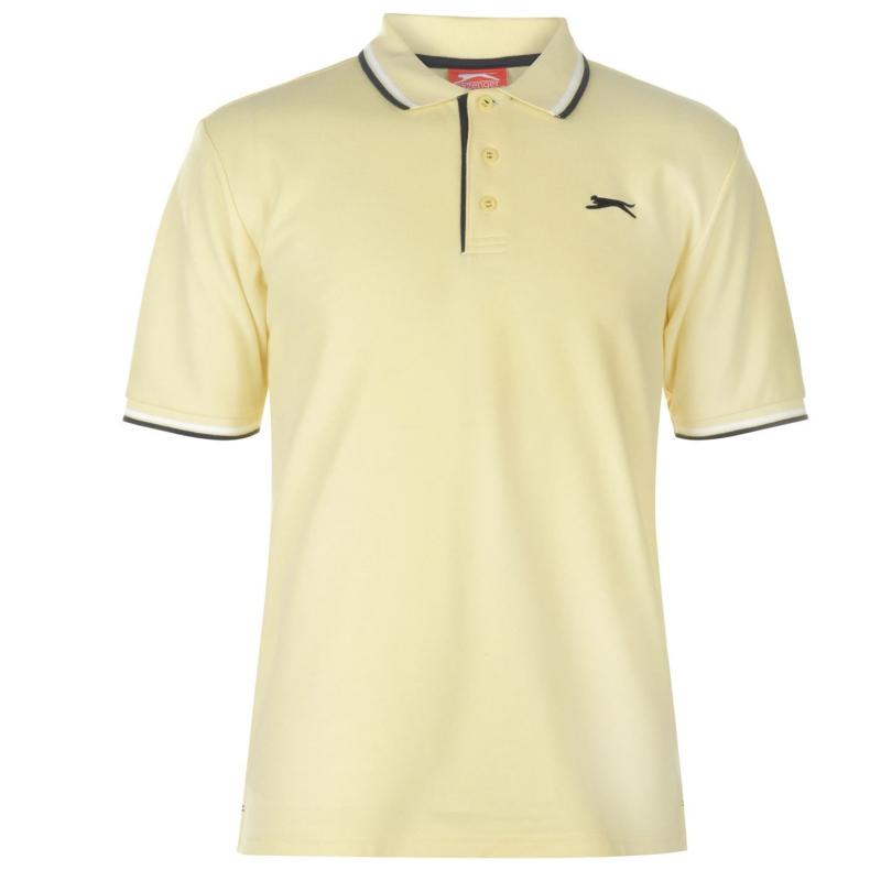Slazenger Tipped Polo Shirt Mens Light Yellow