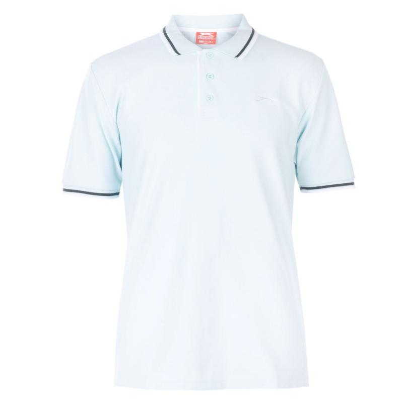 Slazenger Tipped Polo Shirt Mens Light Blue