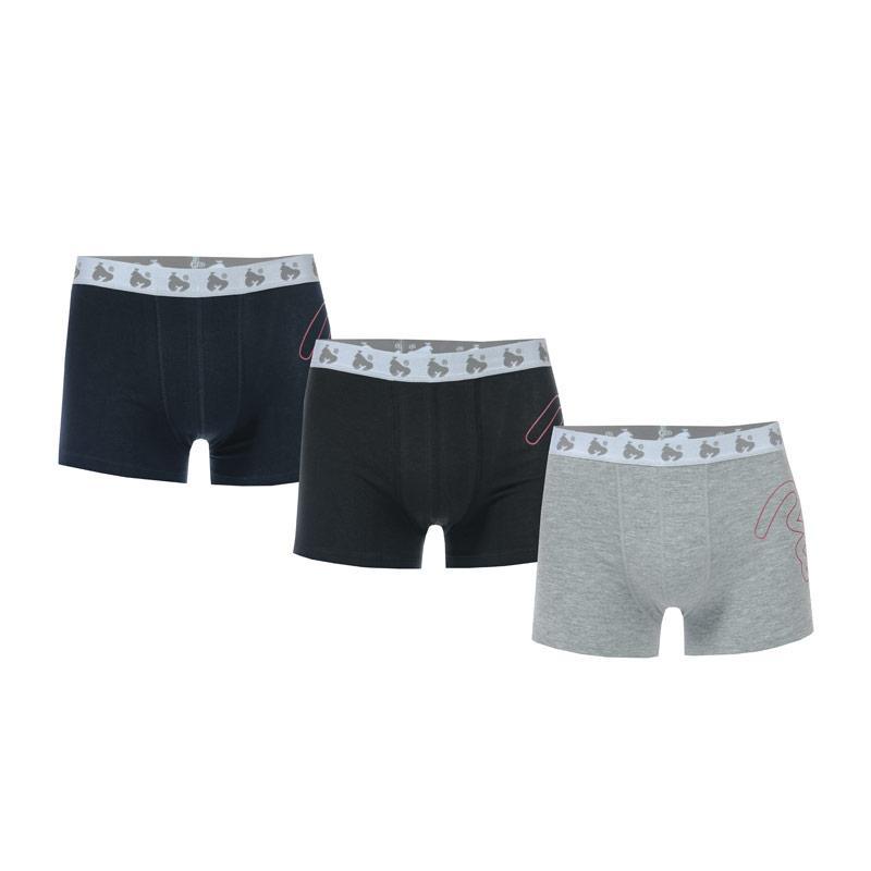 Ponožky Money Boys Black Label 3 Pack Boxer Shorts Navy