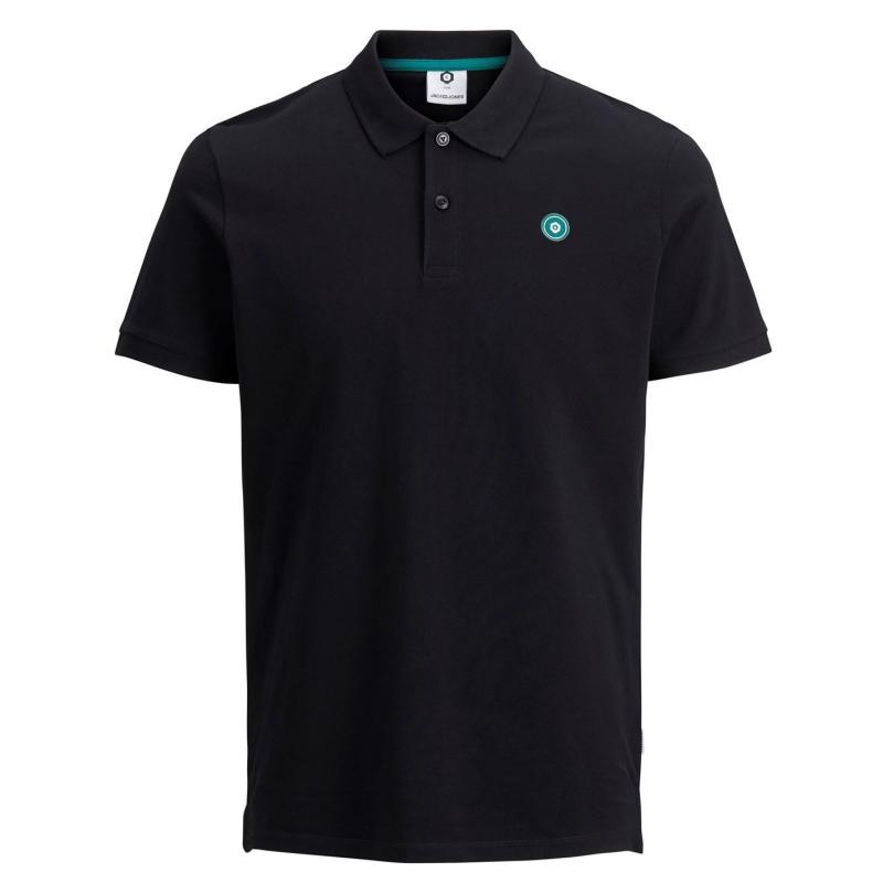 Jack and Jones Core Andres Polo Shirt Black
