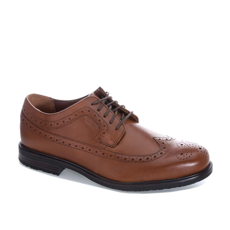 Boty Rockport Mens Essential Details 2 Wing Tip Shoes Tan