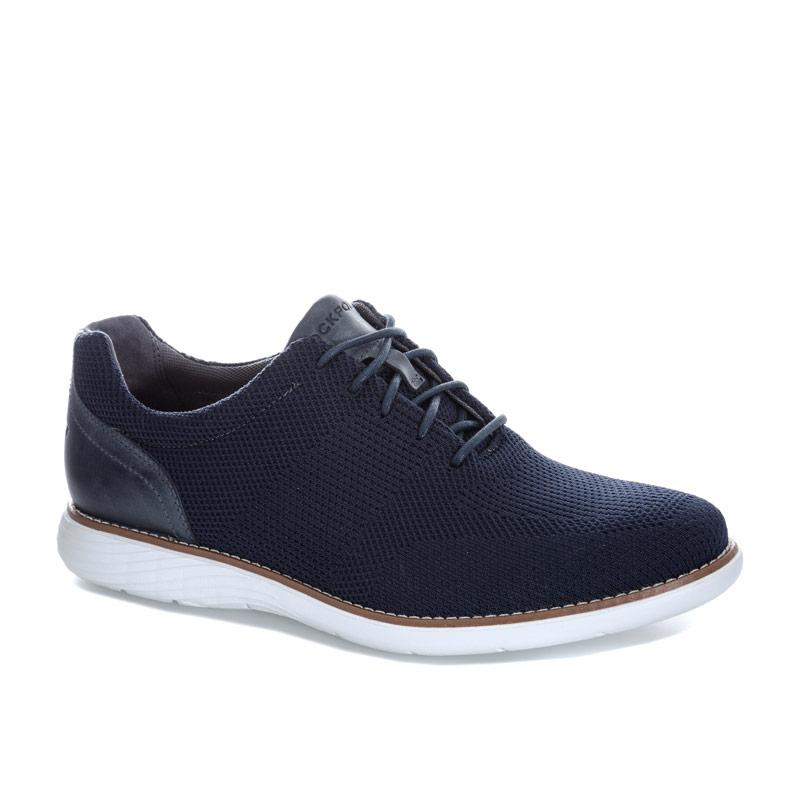 Boty Rockport Mens Garett Mesh Lace Up Shoe Navy