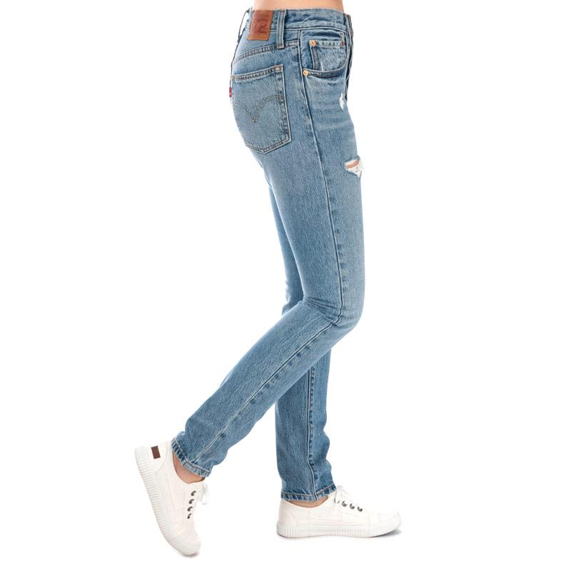 Levis Womens 501 Skinny Can't Touch This Jeans Denim