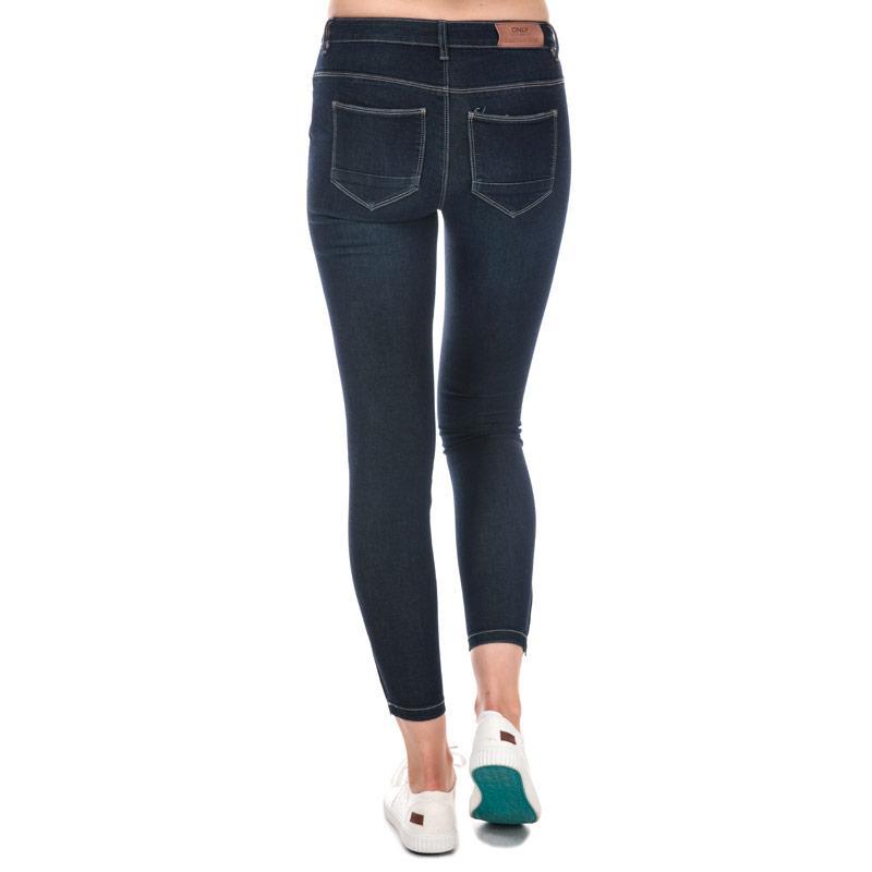 Only Womens Kendell Skinny Jeans Dark Blue Velikost - W26/L32