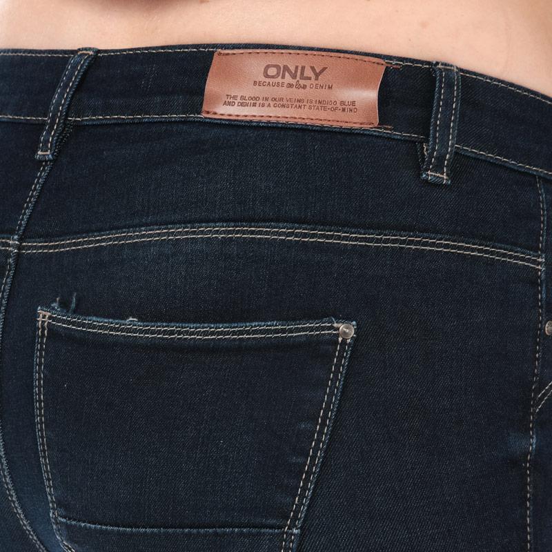 Only Womens Kendell Skinny Jeans Dark Blue