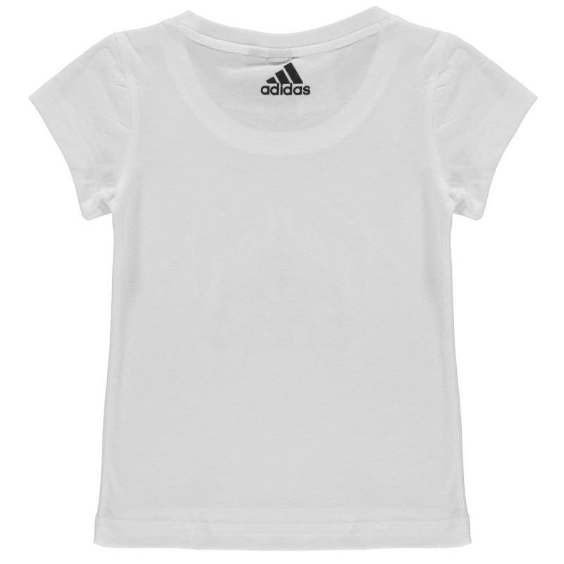 Adidas ID Graphic T Shirt Junior Girls White/Black