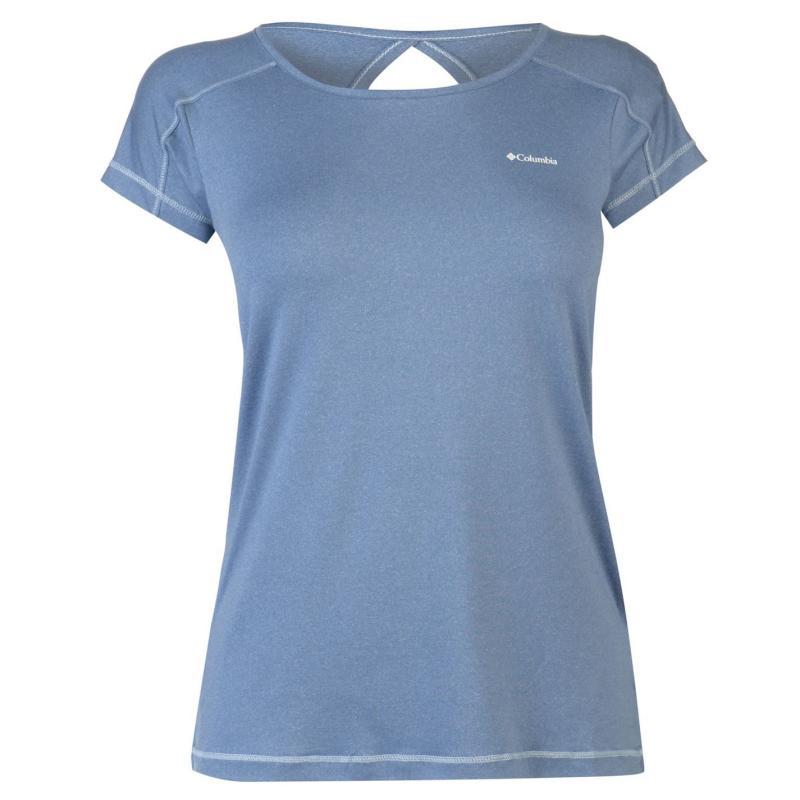 Columbia Peak T Shirt Ladies Blue Dusk