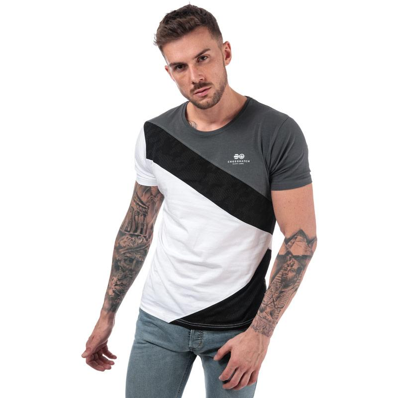 Tričko Crosshatch Black Label Mens Maybank Cut Sewn T-Shirt Charcoal