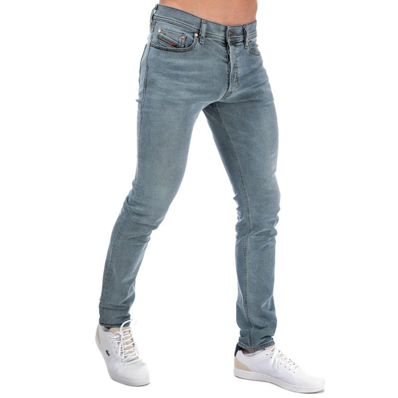 Diesel Mens Tepphar Slim Carrot Leg Jeans Light Blue