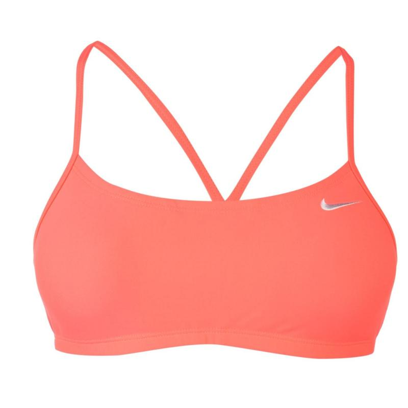 Plavky Nike Racerback Bikini Top Ladies Hot Punch