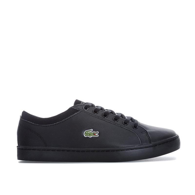 Boty Lacoste Children Boys Straightset Trainers Black